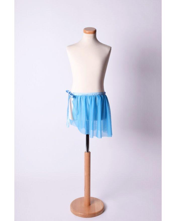 Fustita petala pentru dans si balet - scurta, albastra