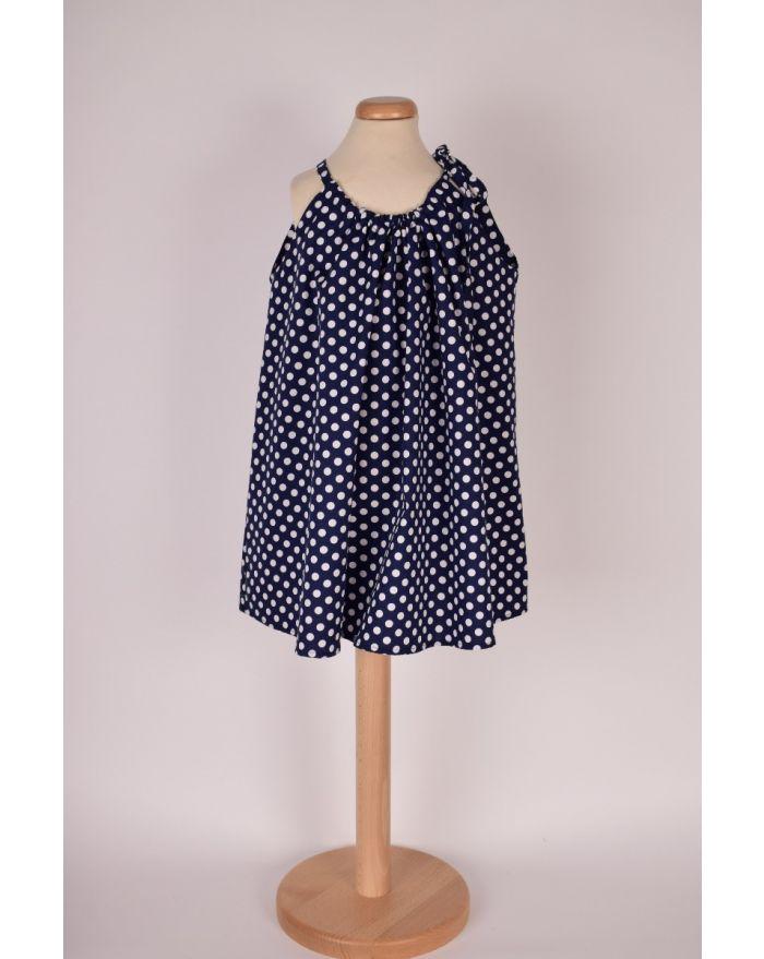 Bluzita de vacanta (cu pretentii de rochita) - bleumarin