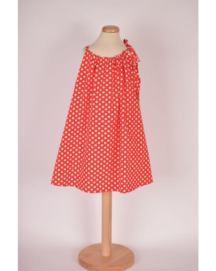 Bluzita de vacanta (cu pretentii de rochita) - rosie