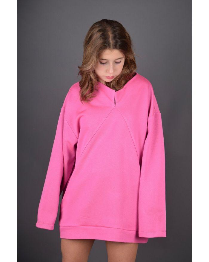 Bluza lejera cu buzunare - roz