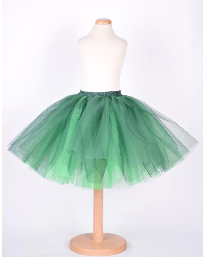 Fusta fantezie verde inchis - verde deschis - 3 ani