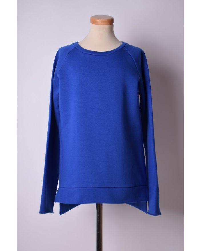 Bluza sport albastru electric