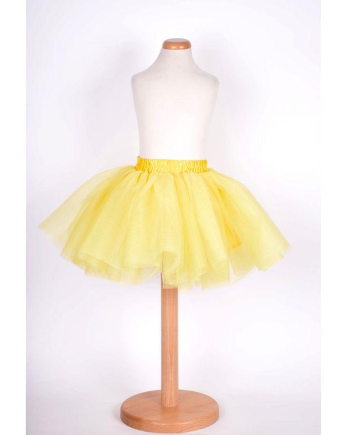 Fusta Fantezie galben-galben pai - 3 ani