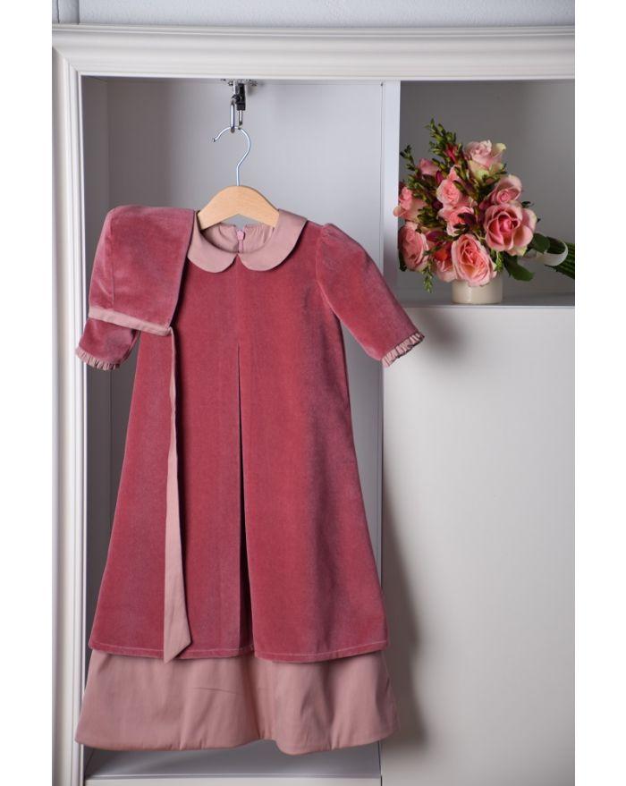 Rochita de botez roz inchis